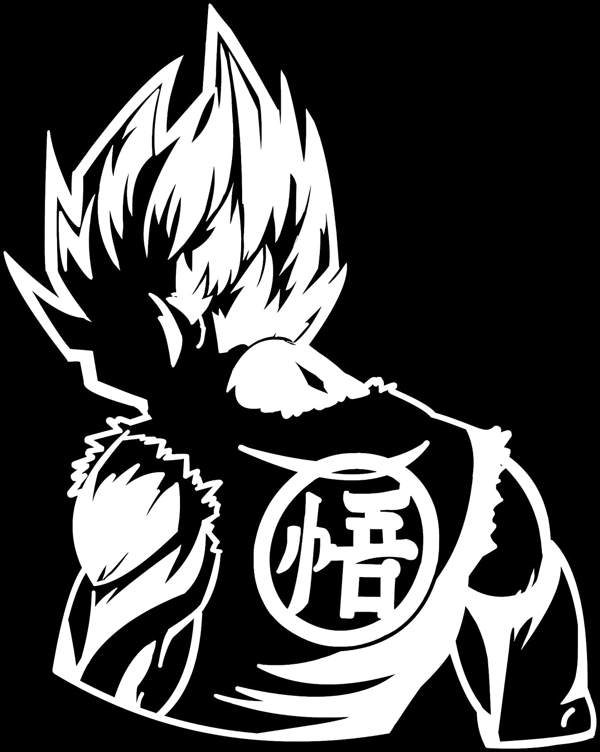 Amazon com kyokovinyl dragon ball z dbz goku super saiyan anime decal sticker for car truck laptop 6 2 x 5 0 white automotive