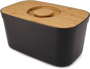 Joseph Joseph Bread Bin with Cutting Board Lid-Black, One Size
