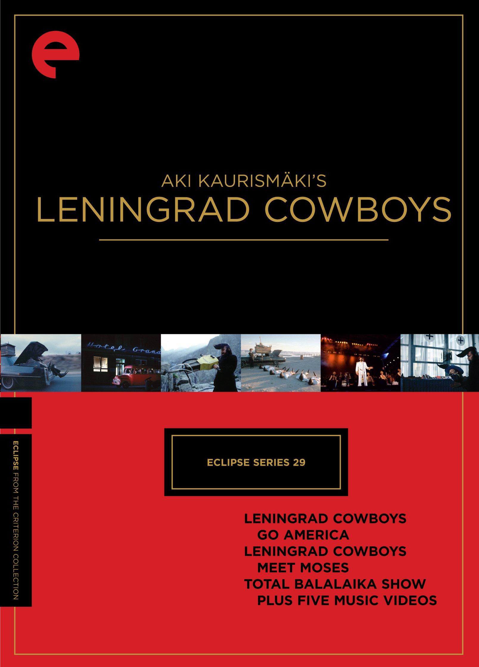 Eclipse Series 29: Aki Kaurismäki's Leningrad Cowboys (Leningrad Cowboys Go America/Leningrad Cowboys Meet Moses/Total Balalaika Show) (The Criterion Collection)