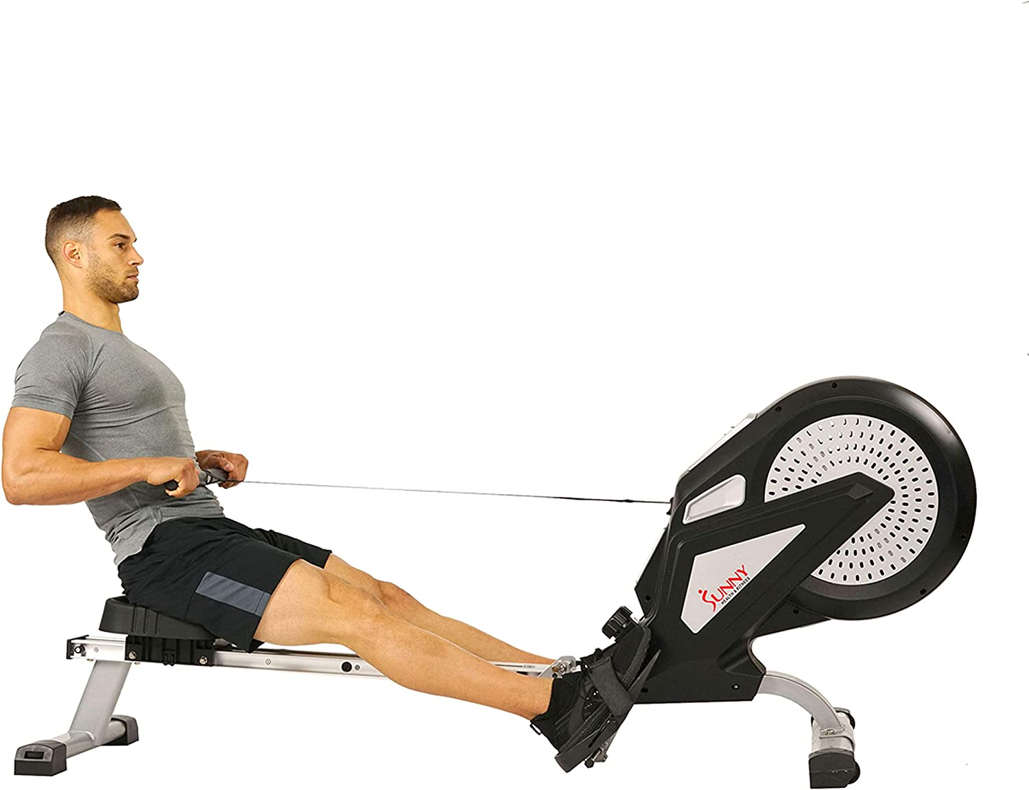 Sunny Health & Fitness Air Plus Magnetic Resistance Rowing Machine