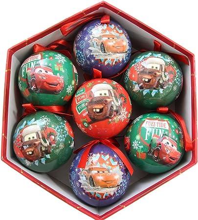 Lot De Noel CARS Lot de 7 boules de noël 7,5 cm rouge: Amazon.co.uk: Kitchen
