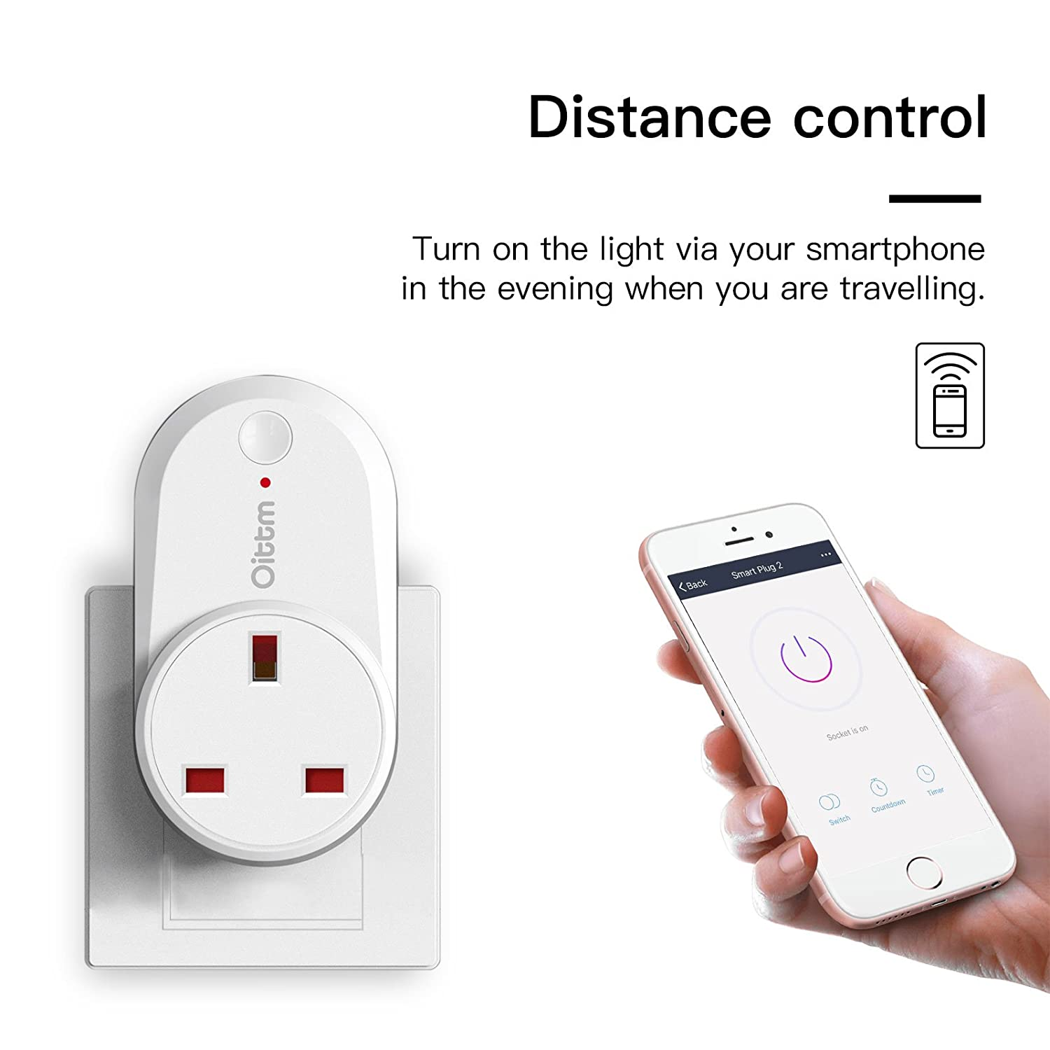 Oittm Smart Plug Compatible With Alexa And Google Home Wifi How To Wire An Outlet Off Of A Switch Youtube Timer Group Function White Diy Tools
