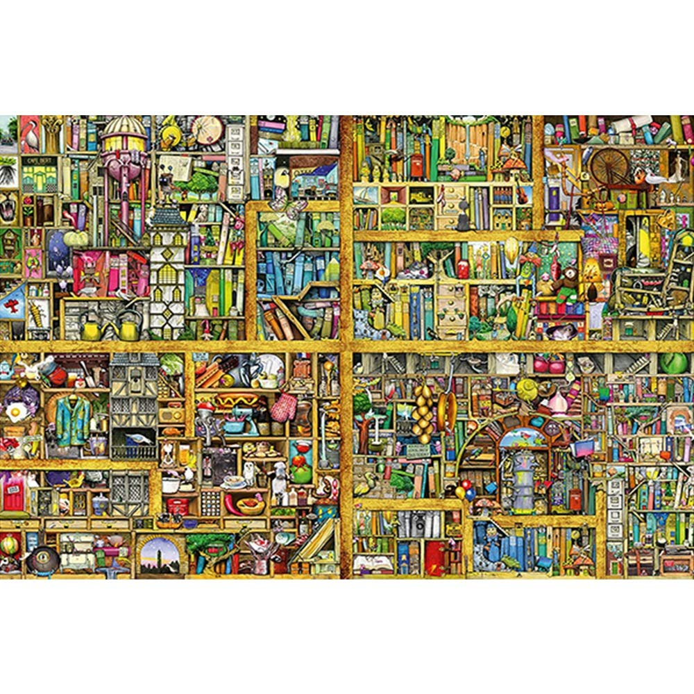 las mejores marcas venden barato XF Puzzles, Puzzles, Puzzles, súper Magic Big Bookshelf, 300 Piezas, Rompecabezas de Madera, Rompecabezas Planos, Series de fantasía, Regalos significativos Entretenimiento  ventas en linea