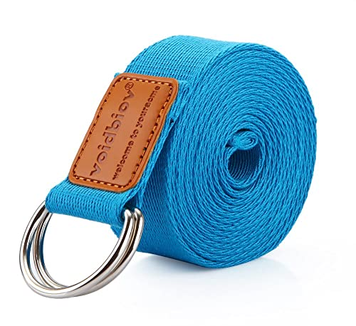 voidbiov D-Ring Buckle Yoga Strap (190cm/250cm), Pilates Strech Belt Perfect for Holding Poses, Improving Flexibility and Physical Therapy