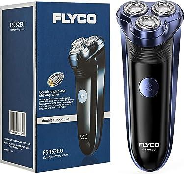 Afeitadora electrica barba para hombre rotativa FLYCO (3 cabezal ...
