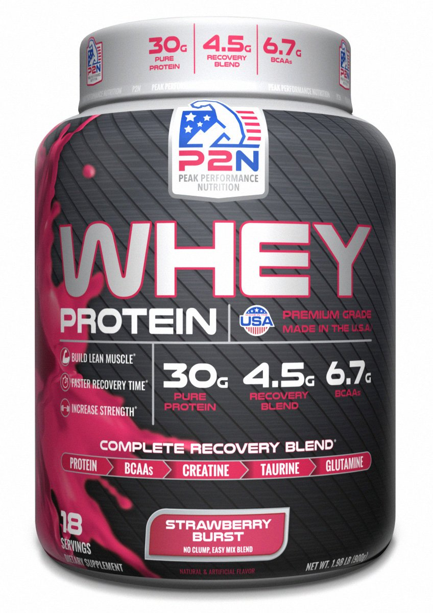 P2N Peak Performance Nutrition P2N Whey Protein, Strawberry, 2 Pound by P2N Peak Performance Nutrition