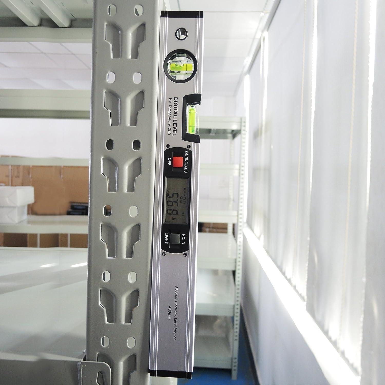 Herramienta de calibre Digital medidor de ángulos con nivel imanes: Amazon.es: Industria, empresas y ciencia