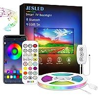 Tira LED TV 3M, JESLED Luces LED RGB Retroiluminación con Control App, Con 29 modos, 16 millones de colores de DIY…