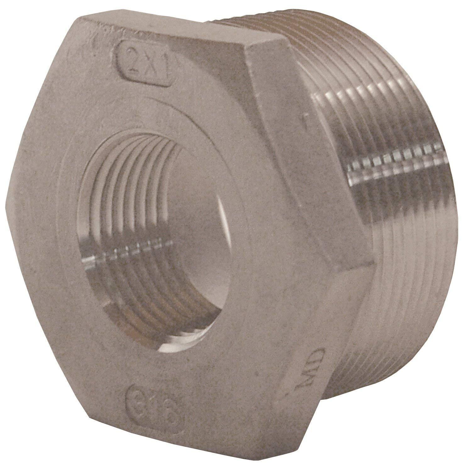 Dixon HB1510SS 150# 316SS Reducer Hex Bushing 1-1//2 MNPT x 1 FNPT