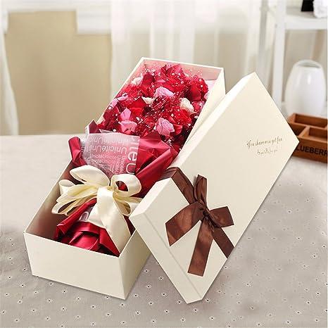 Regalos de Navidad 21 rosas de jabón, novia, cajas de regalo de cumpleaños,