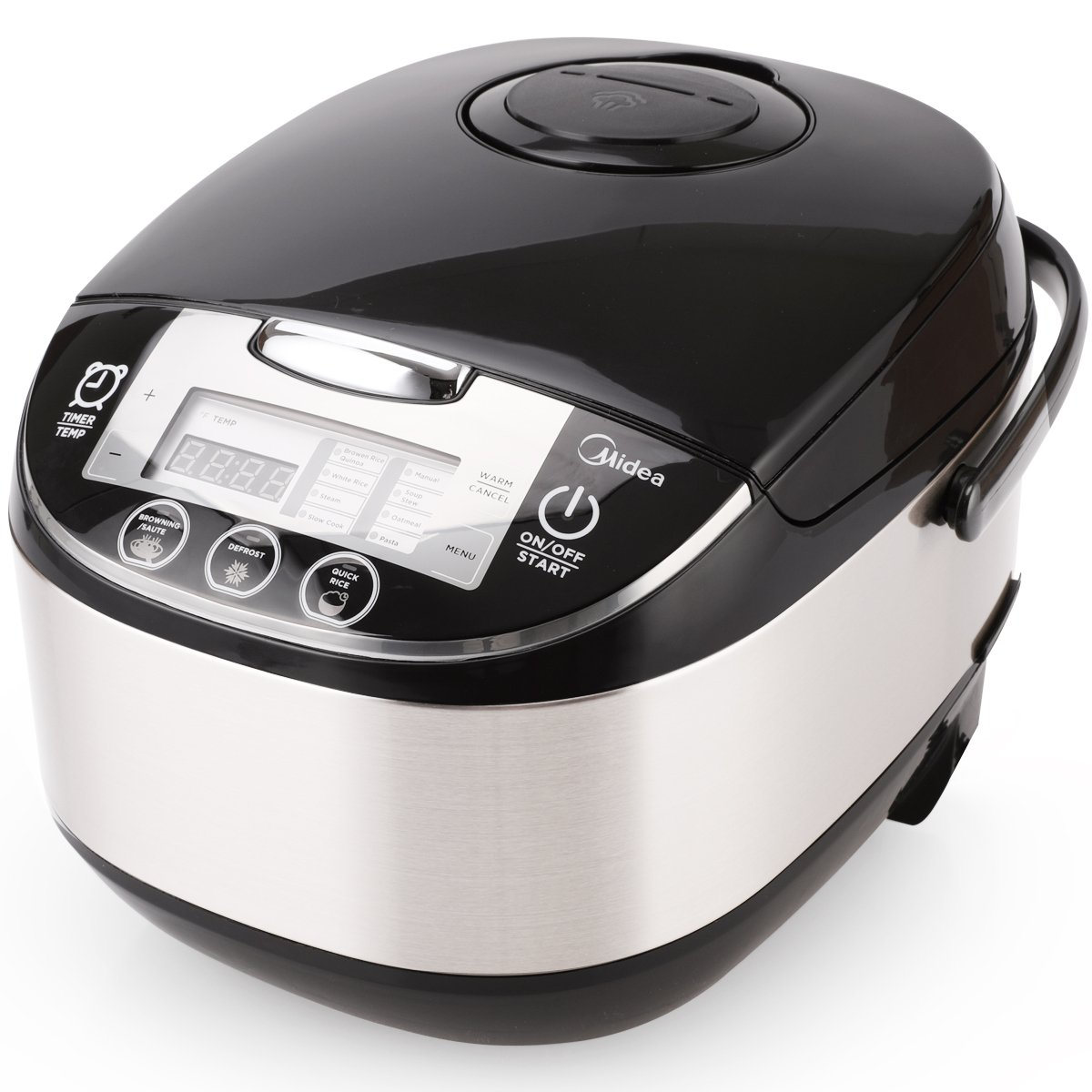 Midea Rice Cooker Slow Cooker Multi Cooker 10 Cup with Steamer Basket For Rice Food Vegetable Egg Automatic Keep Warm LED Digital Control