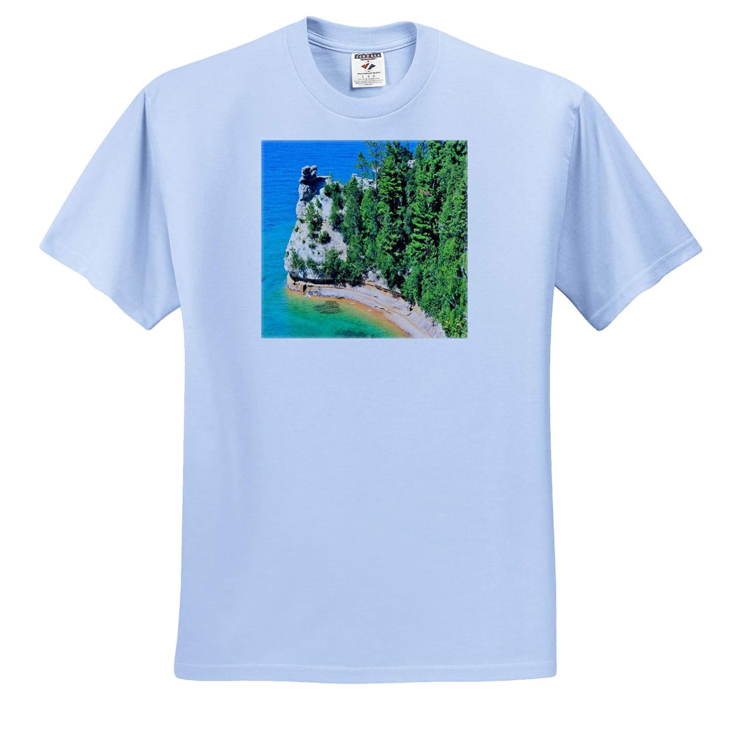 Adult T-Shirt XL Miners Castle 3dRose Dreamscapes by Leslie Scenery ts/_314277