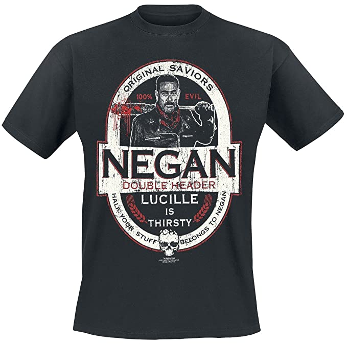 The Walking Dead Negan - Double Header Camiseta Negro r2GbEqcVT
