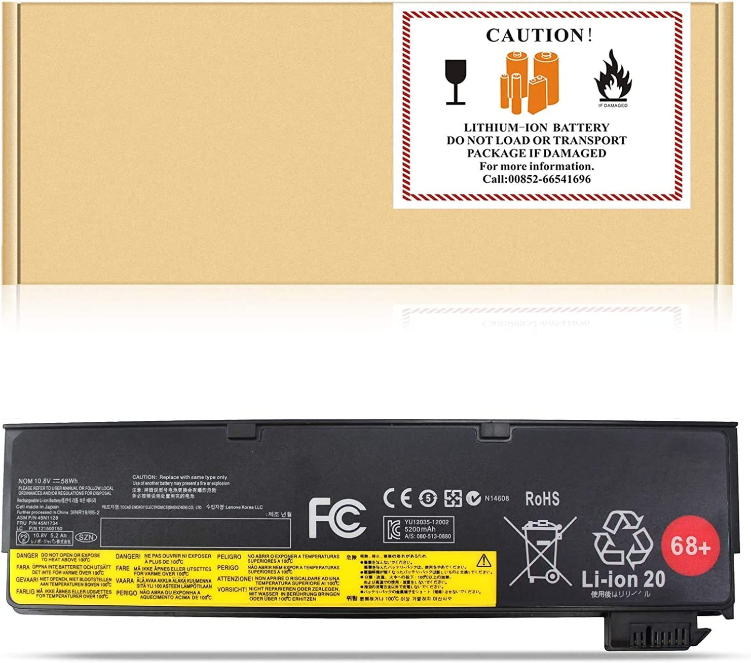 X240 45N1128 45N1734 FLYTEN Laptop Battery Compatible with Lenovo ThinkPad T440 T450 T460 T470P T550 T560 X240 X250 X260 K2450 X270 L460 L470 S440 S540 P50S W550S P/N: 0C52861 121500146 10.8V 48Wh