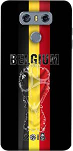 ColorKing Football Belgium 01 Black shell case cover for LG G6