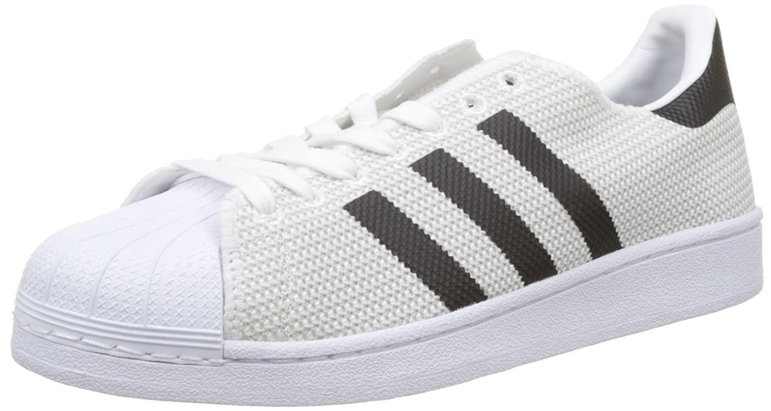 adidas Herren Superstar Sneakers  40 2/3 EU|Wei? (Footwear White/Footwear White/Core Black)