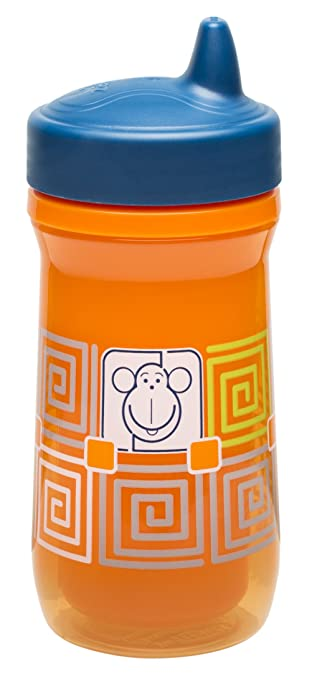New Zak Designs Toddlerific Perfect Flo Spout Toddler 9oz Cup Cute Monkey Design