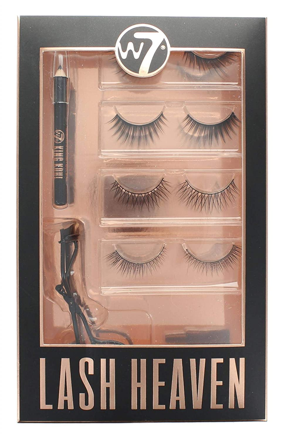 9d348f0ae5f W7 Lash Heaven Ultimate Eye Collection with Glue False Lashes Curler &  Pencil: Amazon.co.uk: Beauty