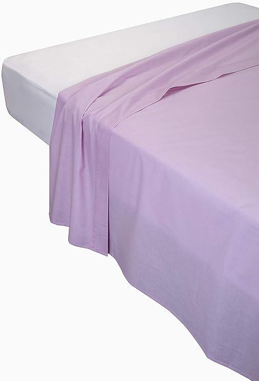 Pikolin Home - Sábana encimera, 100% algodón, 260 x 270 cm, cama 150/160, color salmón (Todas las medidas): Amazon.es: Hogar