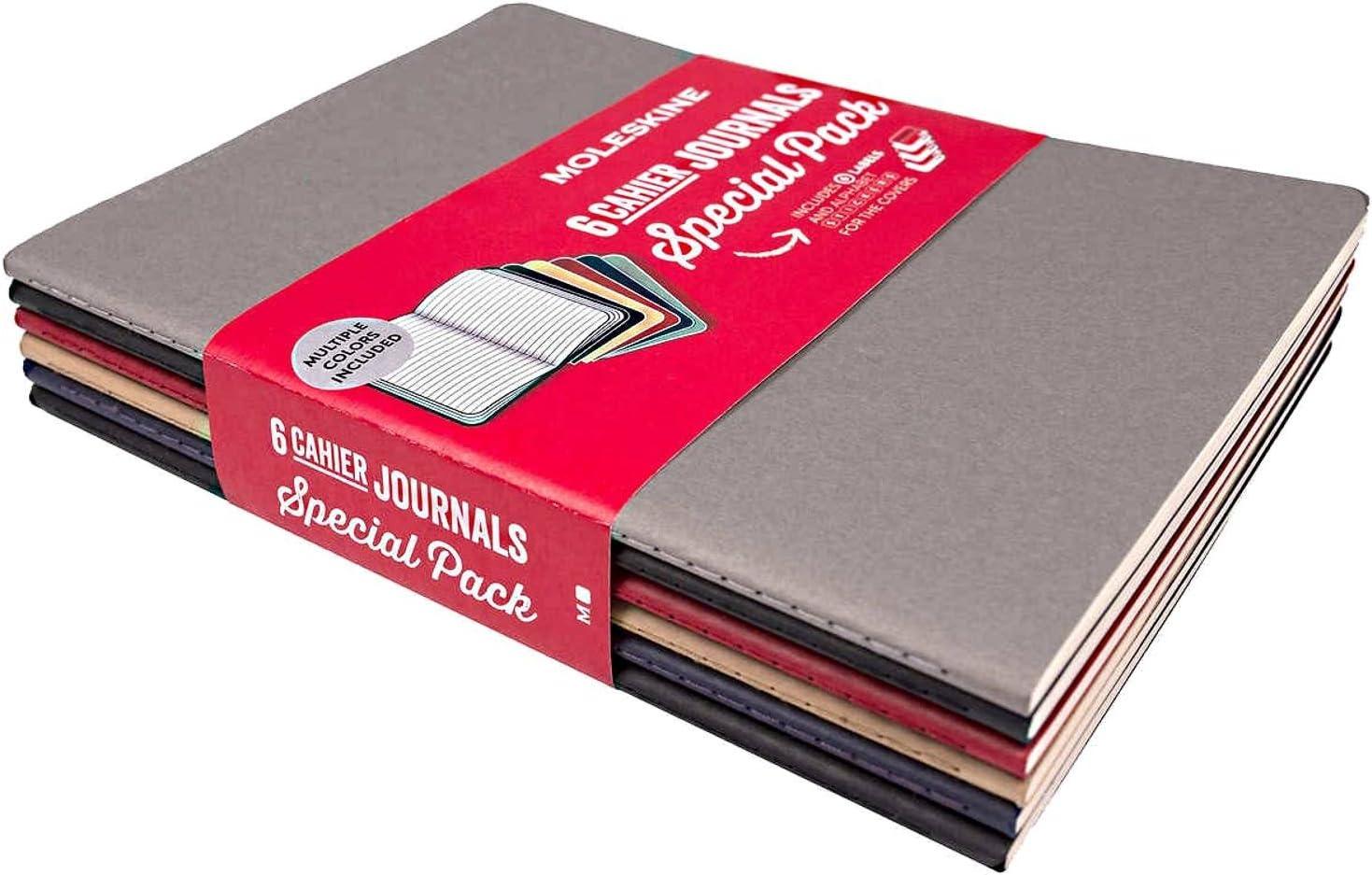 Moleskine variedad 6 Pack Cahier revistas: Amazon.es: Oficina y ...