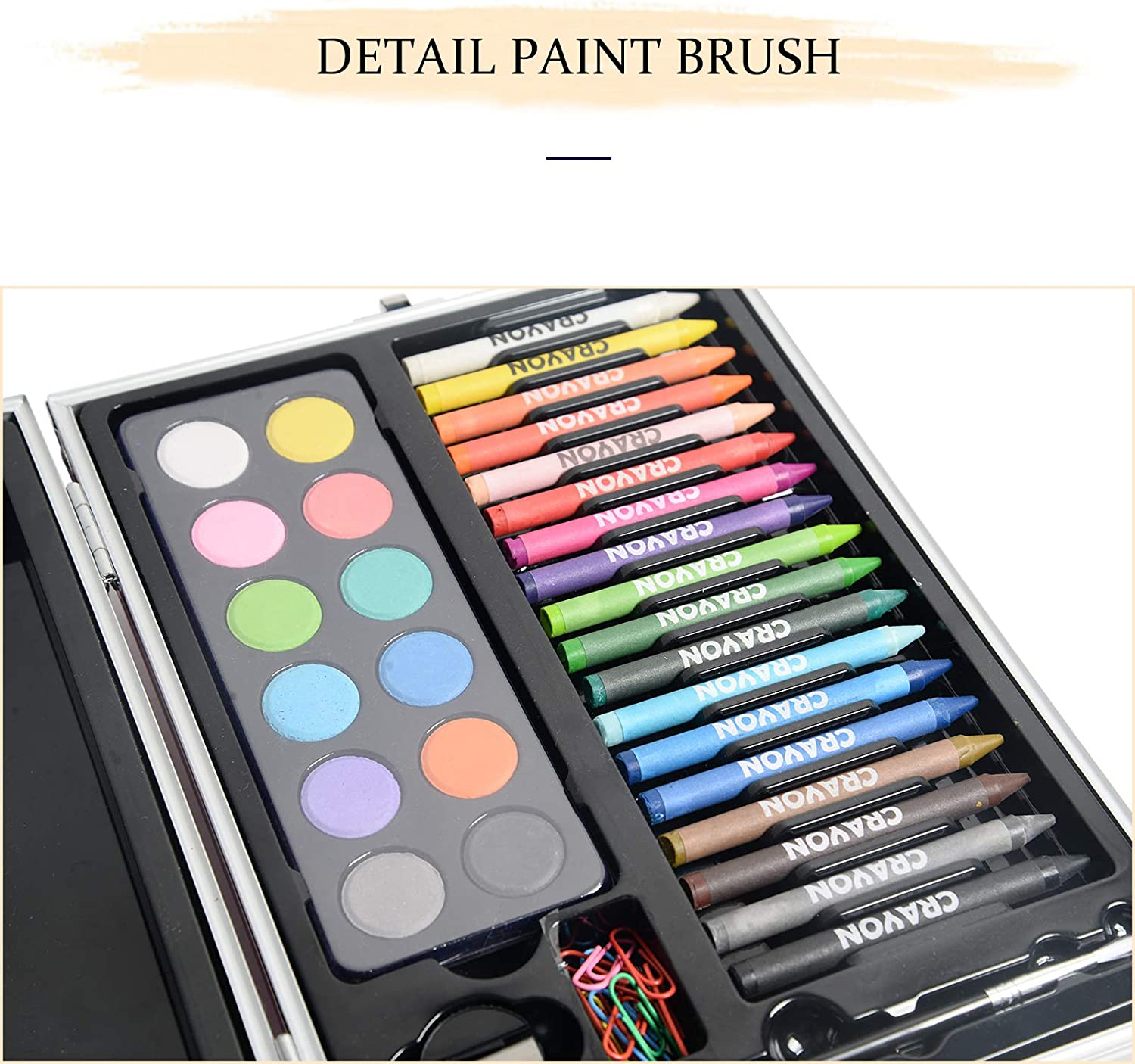 KIDDYCOLOR 135Pcs Painting Drawing Art Set for Kids with Sketchpad Aluminum Case Perfect as Christmas Gift for Girl and Beginner