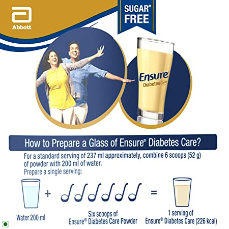 Buy Ensure Diabetes Care Adult Nutrition Health Drink- 400g (Vanilla) Online at Low Prices in India - Amazon.in