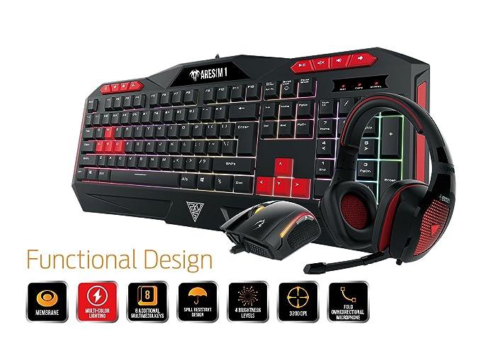 Amazon.com: GAMDIAS Poseidon M1 Gaming Combo, Ares M1 Membrane Keyboard with Zeus E2 optical Mouse and Eros E1 Headset (Poseidon M1): Computers & ...