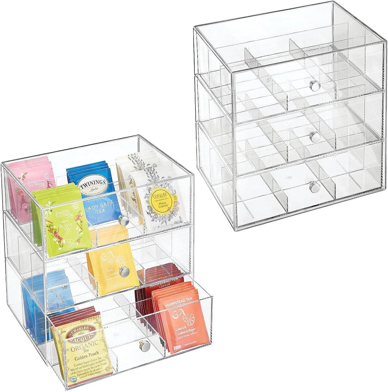 mDesign OFFer Plastic Kitchen Pantry Denver Mall Cabinet Organizer St Countertop
