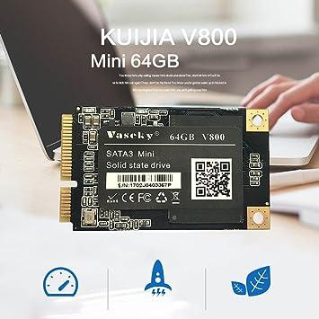 Mini disco duro externo 1.8 pulgadas 64 GB Alta Velocidad 6 GB/s mSATA sólido SSD para ordenador portátil UMPC, Mid, PC, Server: Amazon.es: Informática