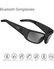 OhO sunshine Waterproof Audio Sunglasses,Open Ear Bluetooth Sunglasses to Listen Music and Make Phone Calls with Polarized UV400 Protection Safety Lenses,Unisex Sport Design for All Smart Phones