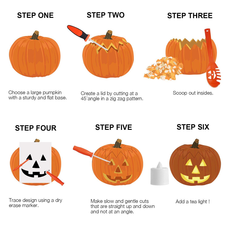 Sriogo Halloween Decoration Pumpkin Carving Tools for Kids Pumpkin