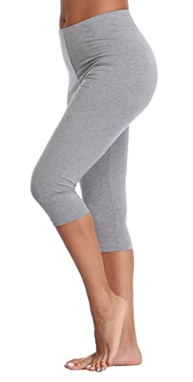 67f5e615b5 Women s Capri Leggings 3 4 Length Leggings Comfortable Modal Leggings (Plus
