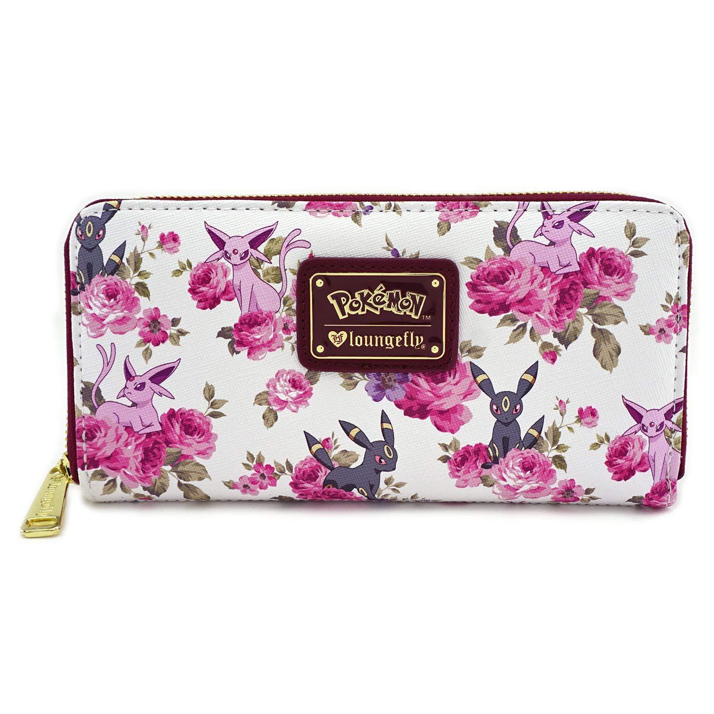1c1c1a50b887 Loungefly x Pokemon Espeon Umbreon Floral Zip-Around Wallet