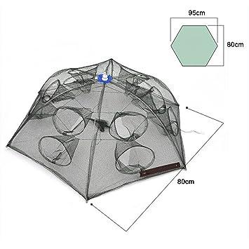 Pesca OzuzuTM + red para pesca de gatos con paraguas de nailon ...
