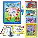 BBLIKE magisch Wasser Zeichnen Malbuch Matte, Malbücher kritzeln mit 2 Zauberstift Wiederverwendbare Malerei Brett Kreative Spielzeug Geburtstagsgeschenke 3+ Jahre alte Kinder