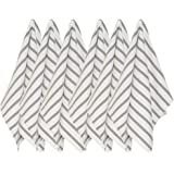 Now Designs Basketweave Kitchen Towel, Set of Six, London Grey