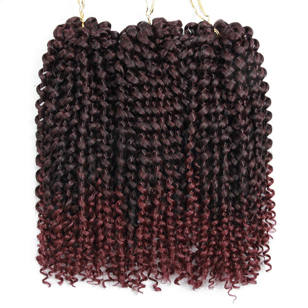 3pcslot Crochet Jerry Curl Weave Synthetic Hair Extensions Ombre