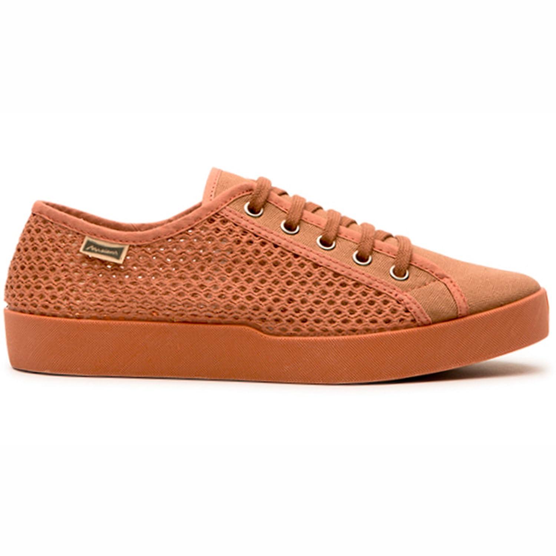 Maians. Zapatos Moda Casual para Hombre. Fabricado Artesanal. Hecho en España. Sneaker 100% Algodón 44 EU|Terracotta