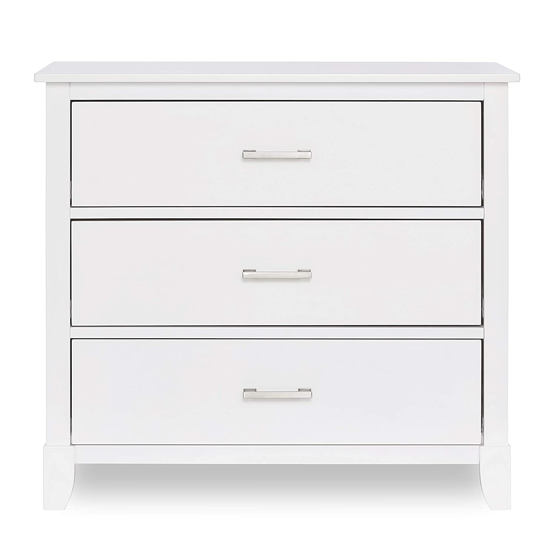Dream on Me Universal 3 Drawers Chest | Kids Bedroom Dresser | Three Drawers Dresser Mid Century Modern, White