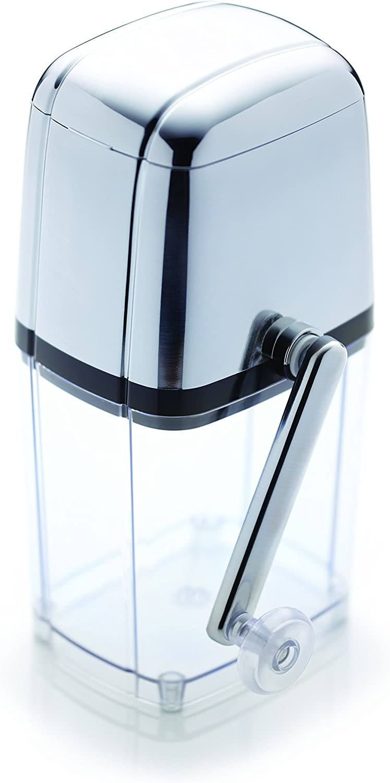 Bar Craft Máquina Picadora de Hielo Manual con Cuchara en Caja de Regalo, de Plástico o Acero inoxidable, 15.5 x 13.5 x 28 cm