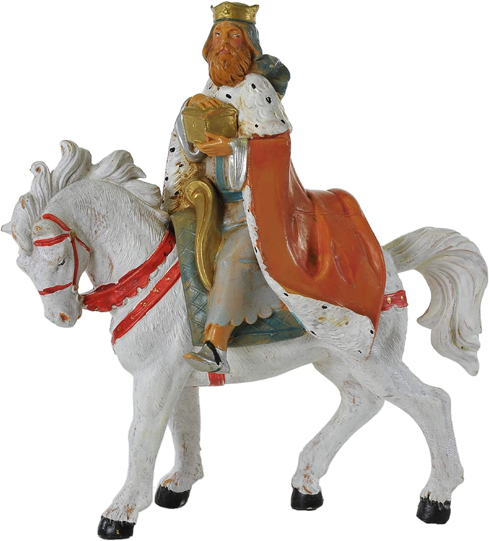 Fontanini - Figura de belén con Caballo Blanco (12 cm)