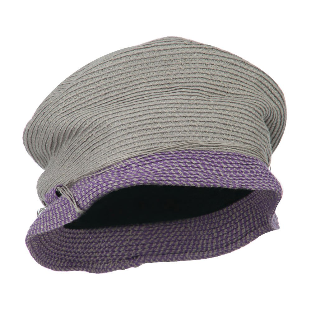Jeanne Simmons Woman's Tweed Bucket Hat - Taupe Lavender OSFM by Jeanne Simmons
