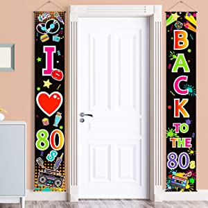 80s Party Decorations 80s Scene Setters Birthday Banner Backdrop I Love 80s Door Sign 1980s Theme Party Supplies