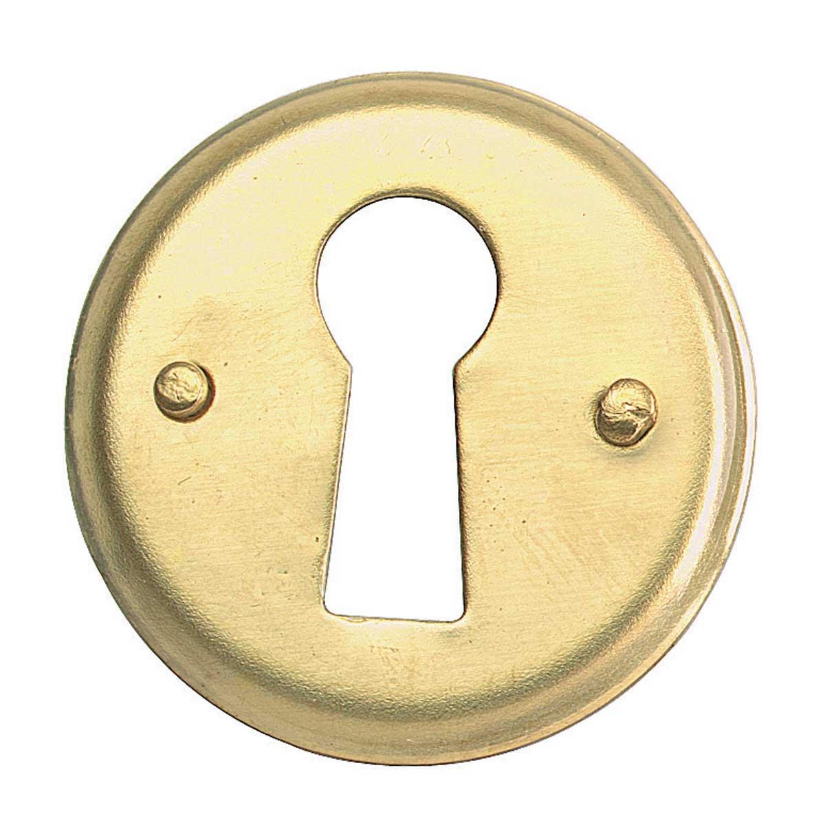 Solid Ebony Beehive Escutcheon With Brass Backplate Door Furniture: Keyhole Covers: Amazon.com