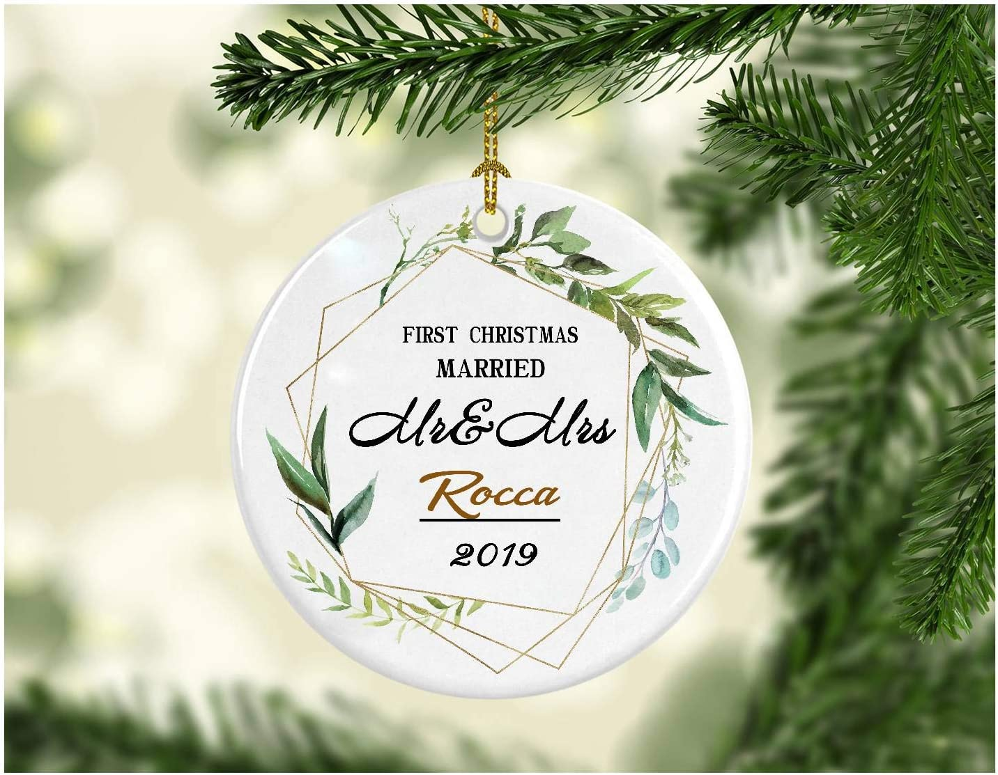 Amazon Com First Christmas Together 2019 Ornament Mr Mrs Rocca