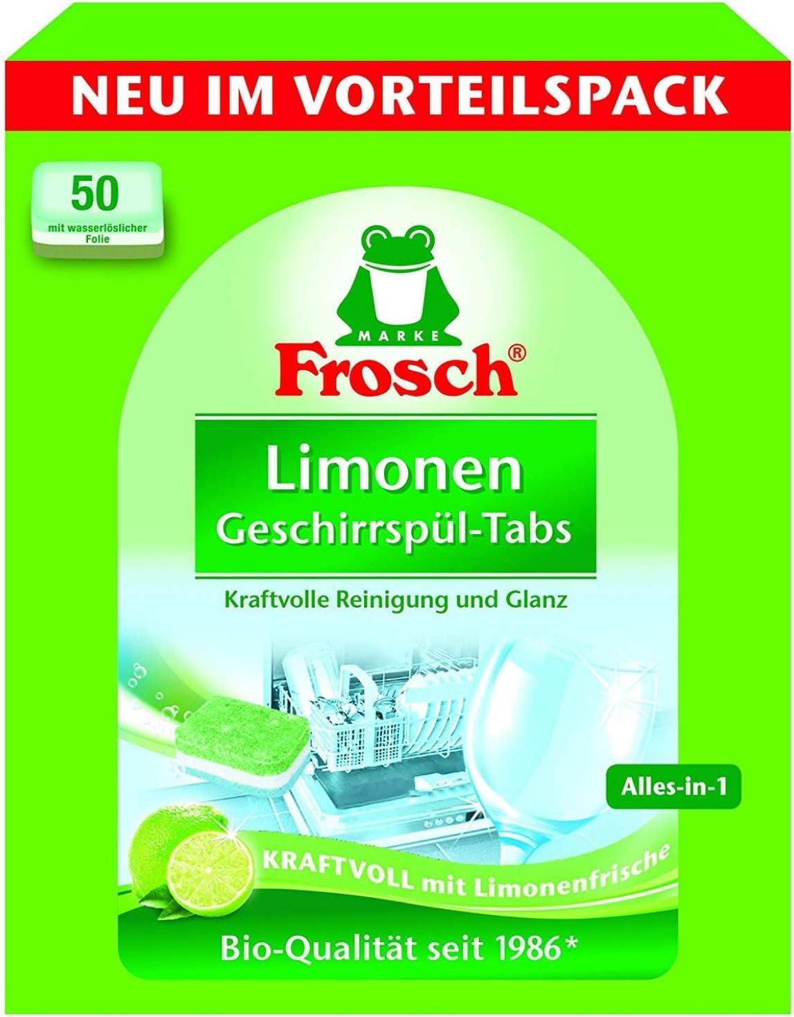 Frosch - Pastillas para lavavajillas (2 Paquetes de 50 Unidades ...