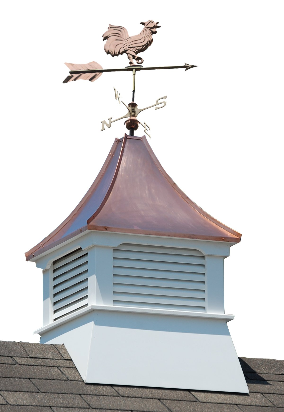 Accentua Olympia Cupola with Rooster Weathervane by Accentua