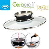 JML Ceracraft & Regis Stone 20cm Aroma Drip Infuser Vented Glass Lid for Saucepans and Frying Pans