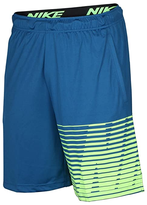 4441c25555 Image Unavailable. Image not available for. Color: Nike Men's Dry Block  Training Shorts, Industrial Blue/Ghost Green ...