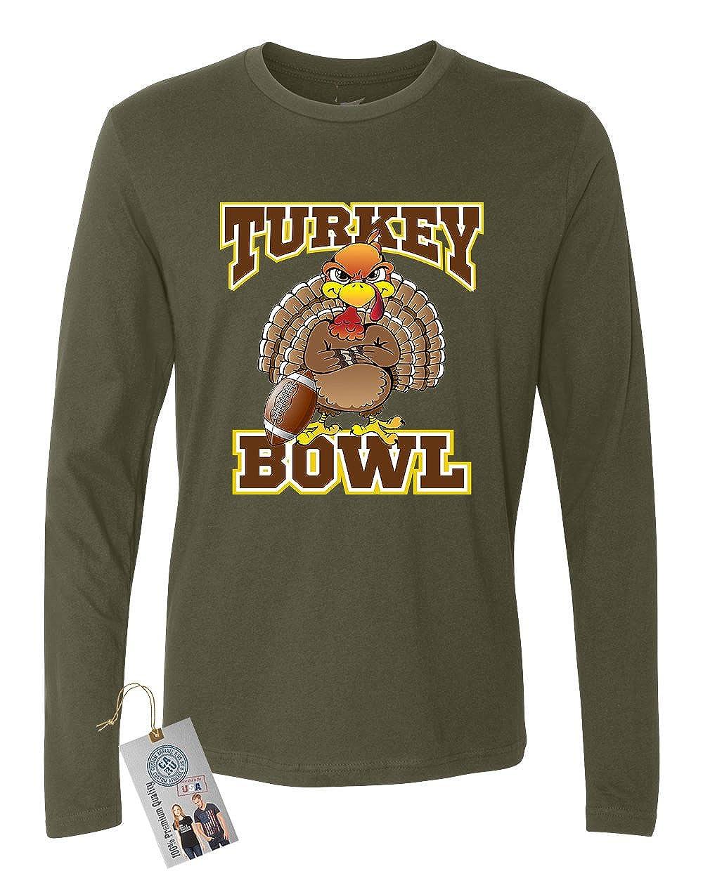 Custom Apparel R Us Thanksgiving Turkey Bowl Mens Long Sleeve